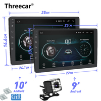 9 10 INCH Android 8.1 GPS Navigation Autoradio Multimedia DVD Player Bluetooth WIFI MirrorLink OBD2 Universal 2Din Car Radio
