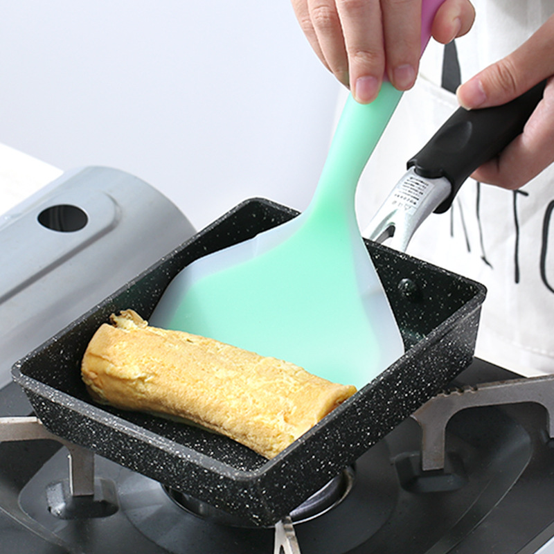 13X18Cm Frying Pan Omelette Black Non-Stick Pan Fry Egg Pan Pancake Kitchen Pot Only Use For Gas Cooker