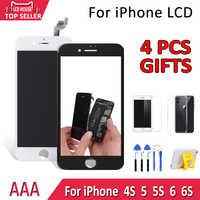 AAA Pantalla para iPhone 4S 5 5S 6 6 S LCD Pantalla de Pantalla táctil digitalizador Asamblea reemplazo de alta calidad No píxeles muertos pantalla