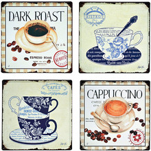 Dark Coffee Cafes Chai Latte Bistrot Vintage Metal Tin Signs Home Decor Iron Poster Decorative Retro Wall Art for Bar Pub