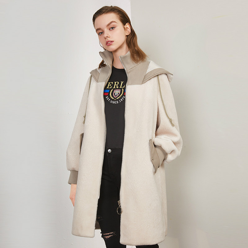 Real Fur Coat Streetwear 100% Wool Jacket Autumn Winter Coat Women Clothes 2019 Korean Vintage Women Tops Abrigo Mujer ZT3341