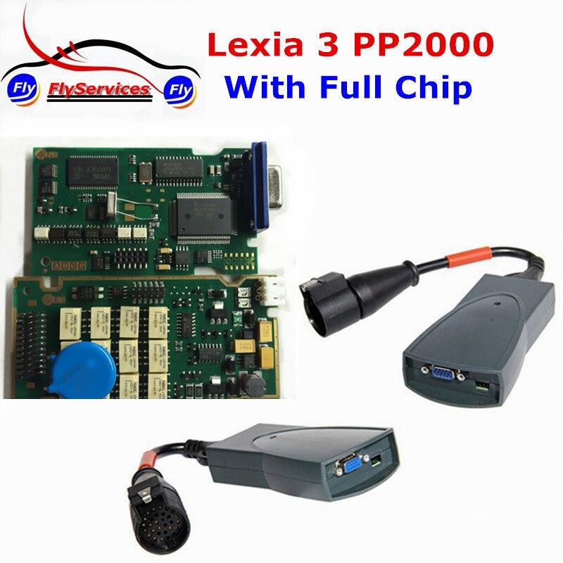 Цена за Lexia3 PP2000 Lexia 3 Полный Чип Для Citroen на Peugeot Диагностический Инструмент С Новыми Diagbox V7.61 Нескольких языков Быстро доставка