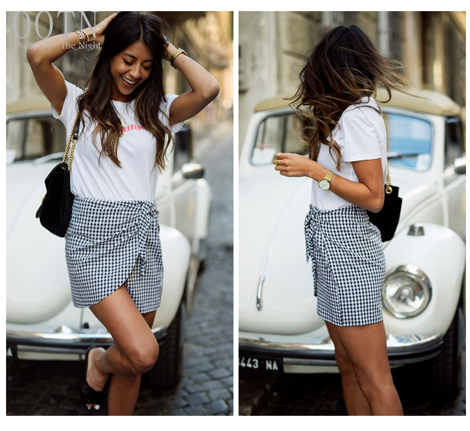 HTB1bTNQSpXXXXbMapXXq6xXFXXX3 - Women Plaid Short Skirts Black and White Checkered PTC 250