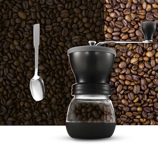 EASEHOLD Manual Ceramic Coffee Grinder ABS Ceramic core Stainless Steel Burr grinder Kitchen DIY Mini Manual Hand Coffee Grinder