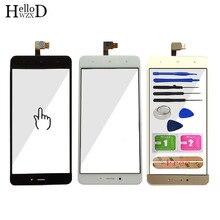 Painel de Vidro Da Tela De toque Digitador Para Xiaomi Redmi Nota 4/4 Hongmi Nota/Arroz Vermelho Nota 4 Toque vidro da frente Do Sensor Adesivo