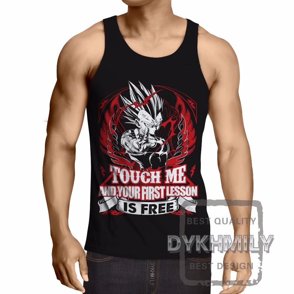 T-shirt Homme Blanc Dragon Ball Z DBZ musculation Training to go super sayan