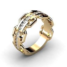лучшая цена Retro Lovers' Rings Men Women Wedding Engagement Rings Good Quality Cubic Zirconia Trending Ring Jewelry Best Gift for Couples