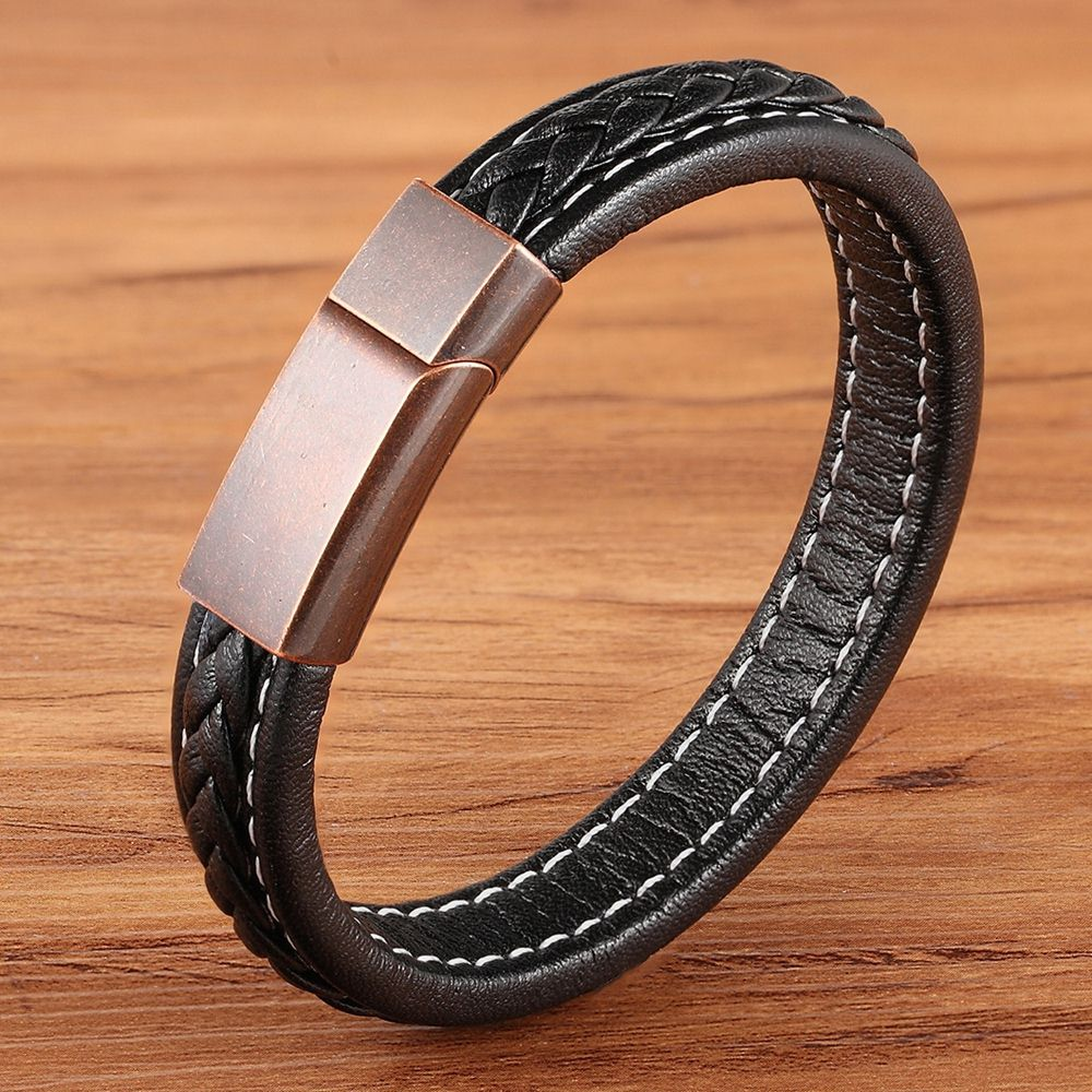 Black with Rose gold