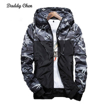 2017 New Camouflage Men Jacket Coats Autumn Polyester Mens Jackets Loose Casual Male Outerwear Fashion Camo Homme Windbreaker