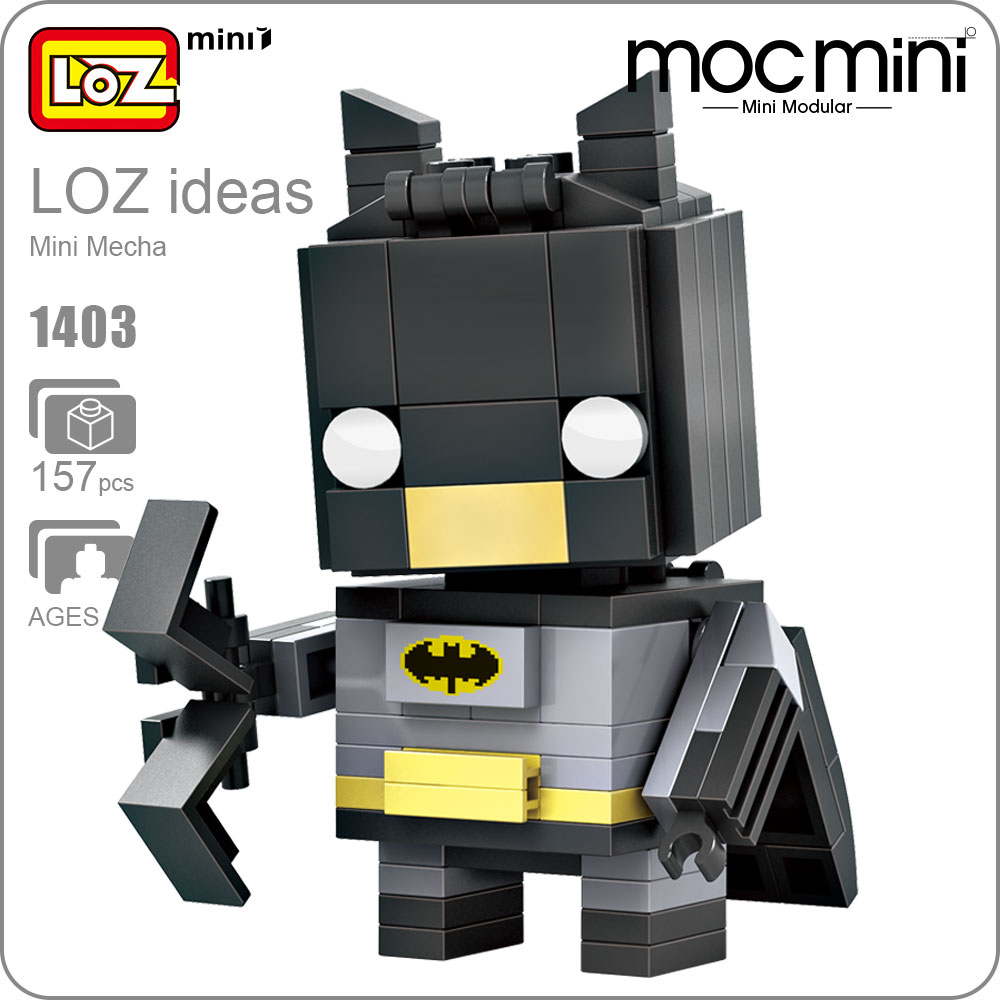 LOZ ideas Mini Block Mecha Superhero Bricks Action Figure Dolls Toy Building Blocks Model DIY Toys Gift Children Assembly 1403 grey sleeveless design chest cut out top