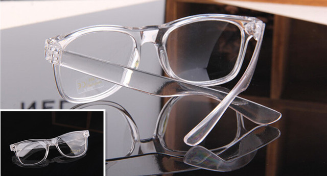 Fashion Eyeglass Frame Vintage Transparent Glasses Retro UV400 Plain Lens  Optic 4478f90d03