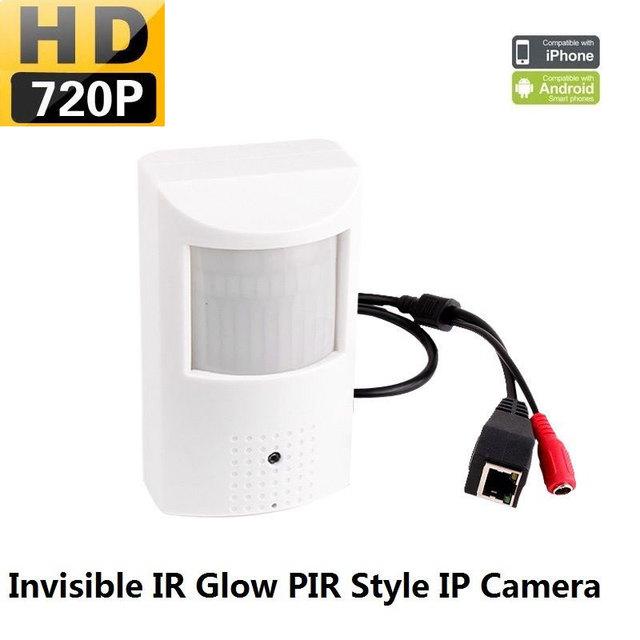 Hd 720 P IP segurança PIR Sensor de movimento Covert Camera suporte p2p, Onvif, Dc12v