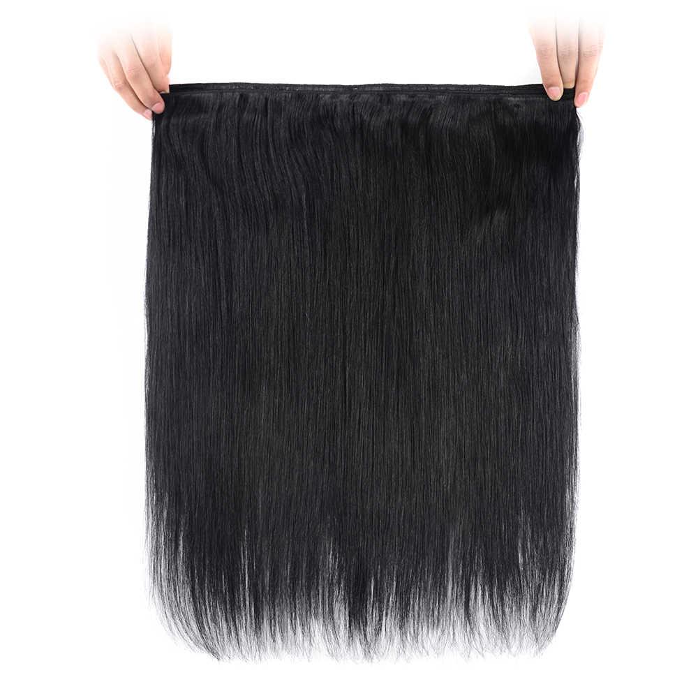 Doreen Brezilyalı düz insan saçı Örgü Demetleri 1/2/3 adet # 1B #2 #4 #8 #27 #60 #613 sarı saç demetleri 20 22 24 26 Remy Saç