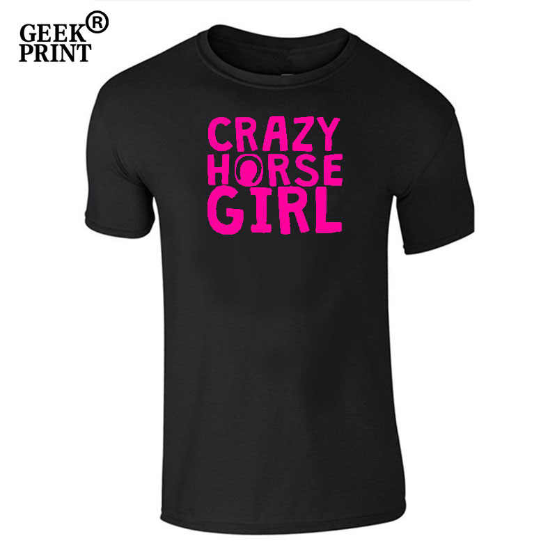 Camiseta para mujer Crazy Horse Girl-amante Ecuestre-Camiseta Cute Rider Top Dropshipping