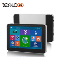 Dealcoo Car GPS Navigation 7 Inch Wince FM Built in 8GB/128M Free Maps For Russian/Europe/USA+Canada Truck Vehicle GPS Navigator