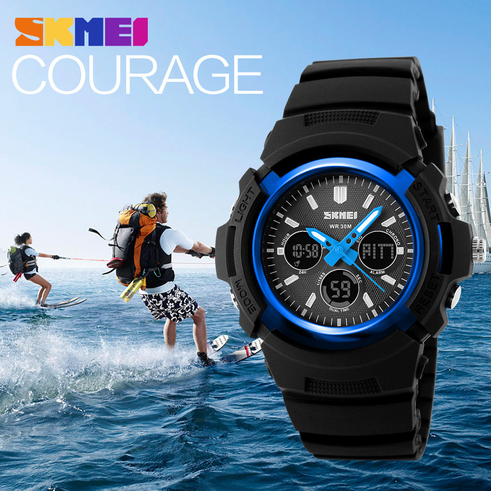 SKMEI Men s Sports Watch Shock Resistant Camping Luxury Digital Waterproof LED Wristwatch