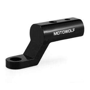 Image 2 - Yeni motosiklet genişleme rafı arka görünüm gidon ayna montaj adaptörü motosiklet ışık genişleme braketi telefon tutucu standı