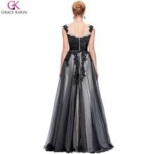 Grace Karin Sexy Black Long Evening Dresses