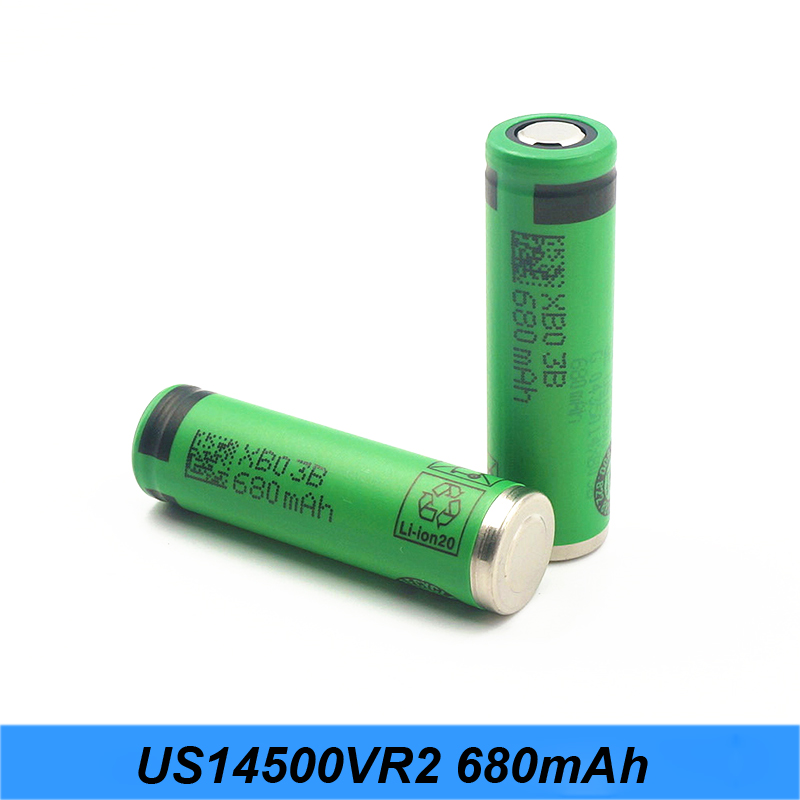 NEW 100% Original Authentic AA size 3.6V <font><b>14500</b></font> US14500VR2 680mAh Flashlight Battery High Capacity AA 680mAh Turmera jy7 image