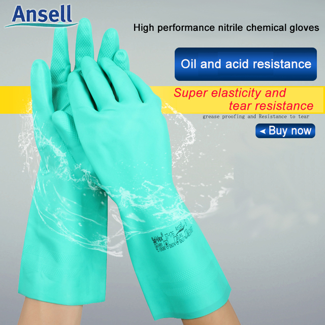 Chemical gloves solvex 37 176 Safety Working Kitchen garden Long