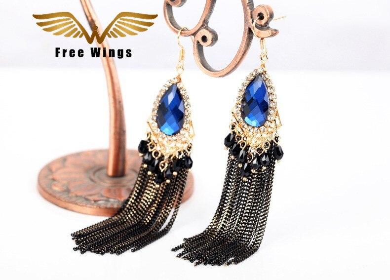 Retro Dangle Long Earrings Drop Tassel Earrings Fashion Party Wedding Jewelry from india Dangle bohemian Earrings