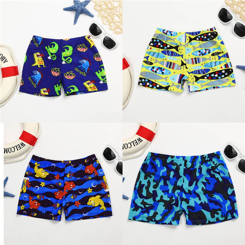 2018 New Arrival Boys Shorts Kid Children Boys Cartoon Print Stretch Beach Swimsuit Swimwear Pants Shorts NDA8421 ...