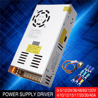 Mising AC 110 220V to DC 0 48V Adjustable Switch Power Supply Driver Adapter for LED Strip light Switch Power Supply