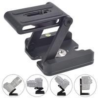 INSEESI Camera Flex Tripod Z Type Head Tilt Aluminum Folding Tripod Quick Release Plate Stand Holder for DSLR&Photography Studio