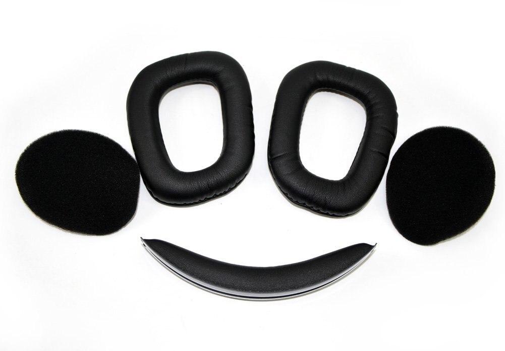 Free Shipping Replacement Headphones Ear Pad  Ear Cushion  Earpads Repair Parts For Logitech G930 Headphones Black