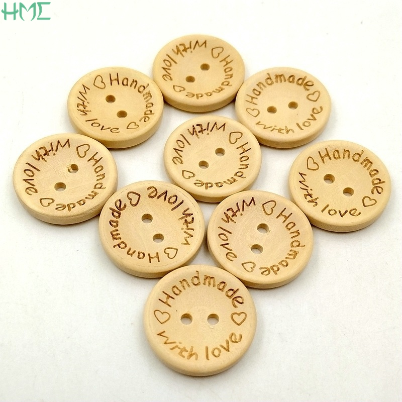 30mm PACK OF 10 PRETTY WOODEN BUTTONS PRINTED DESIGN FLOWERS..........TT30