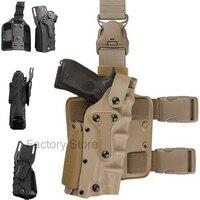Tactical Holster Leg Platform Airsoft Gear Tan Black Thigh Gun Holsters For Gl 17 Colt 1911