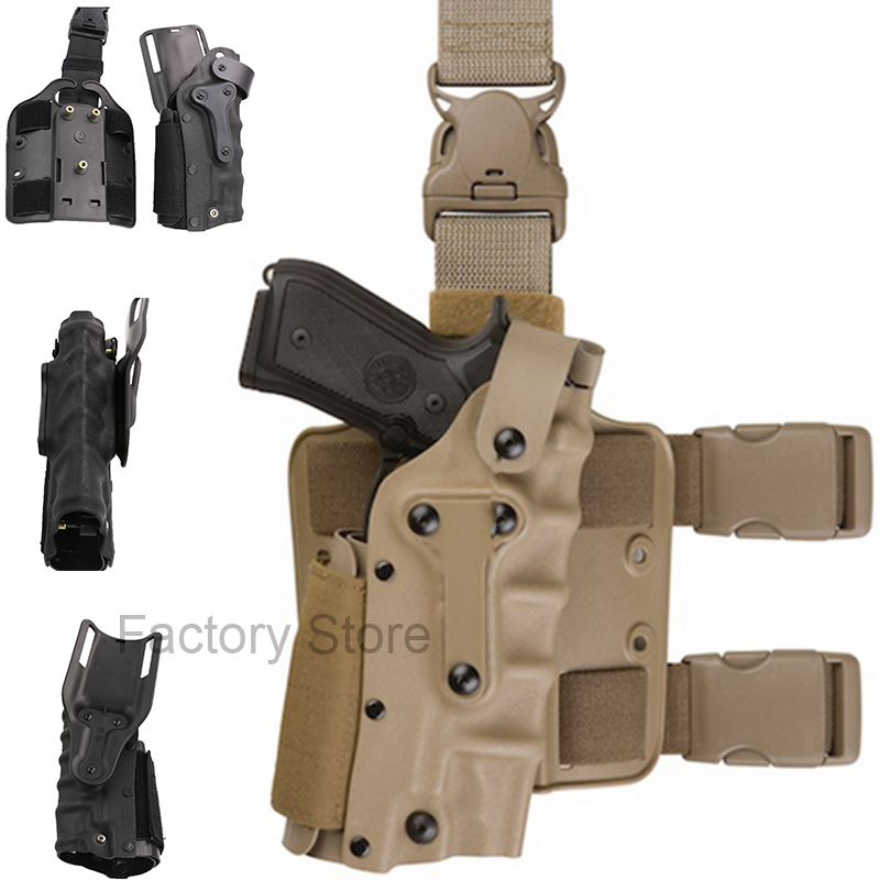 Tactical Holster Leg Platform Airsoft Gear Tan Black Thigh Gun Holsters For Gl 17 Colt 1911 M92 M9 SIG P2022 P226 hama syscase 90 colt black