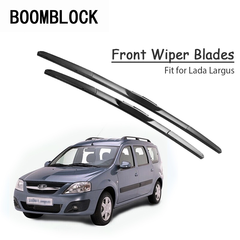 BOOMBLOCK 2pc Car Windshield Rubber Wiper Blades Arm Kit For Lada Largus 2017 2016 2015 2014-2012(China)