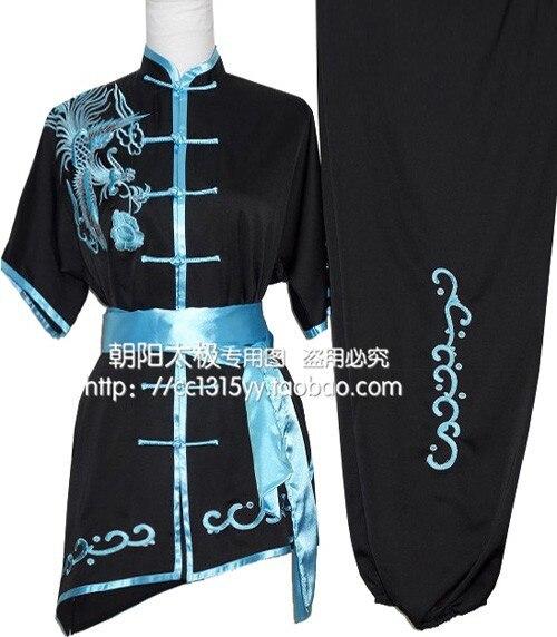 Personnaliser Wushu Shaolin Changquan À Manches Courtes Vêtements pour Hommes et Femmes Équipement de Formation Enfants Phoenix Costume Uniforme