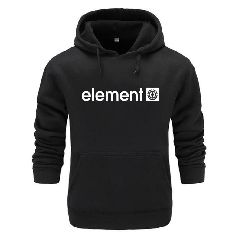 Autumn Winter Brand Mens Hoodies Sweatshirts Men High Quality ELEMENT Letter Printing Long Sleeve Fashion Mens Hoodies 2