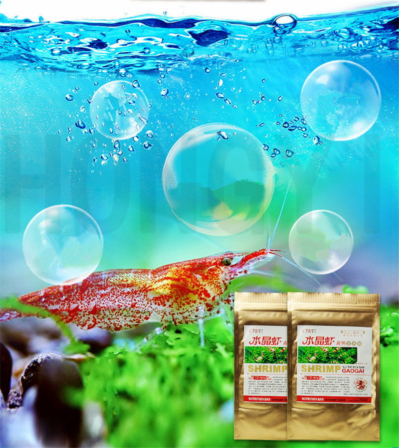 HONGYI 1 Piece 50g Ornamental Shrimp Food High Calcium Nutrition Bar Crystal Shrimp Feed For Fish Tank Safety And Health