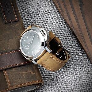 Image 5 - IStrap ייחודי 22mm 24mm 26mm שעון רצועת אמיתי עגל עור צמיד שעון להקות Assolutamente רצועת השעון חום עבור חלונית ראי