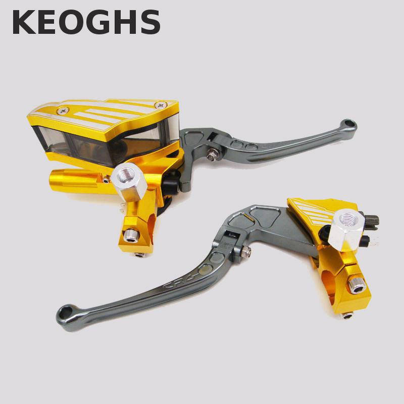 Keoghs Motorbike Brake Master Cylinder And Brake Clutch Lever 12.7mm Piston Diameter For Honda Yamaha Kawasaki Suzuki Scooter