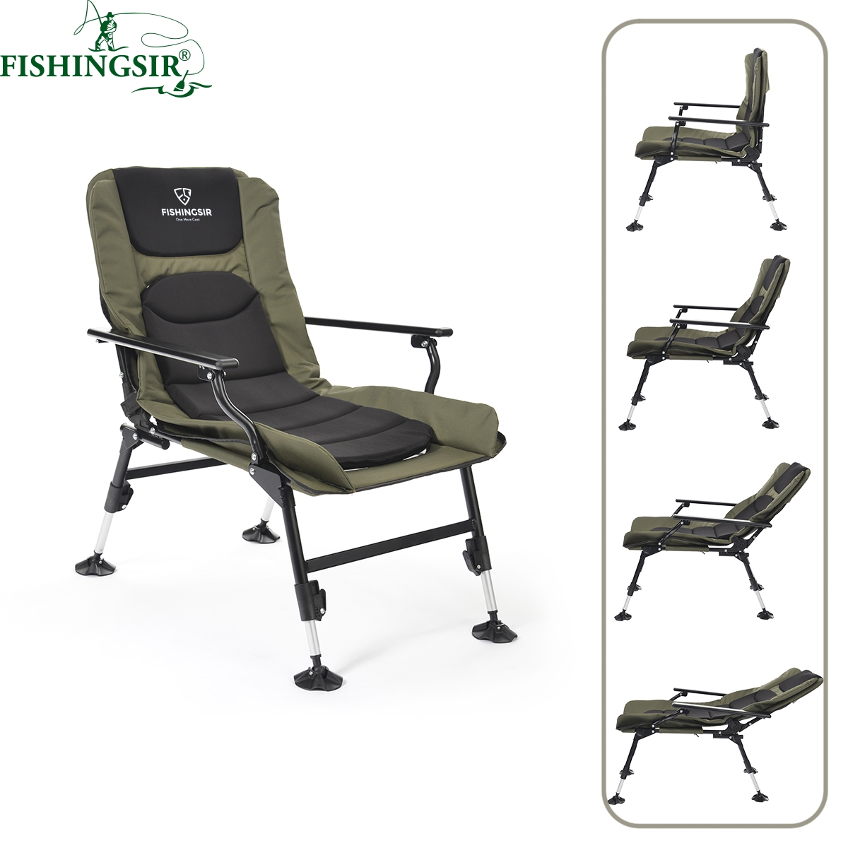 fishing chair with headrest cheap single chairs buy fold lounge bronze finether folding zero