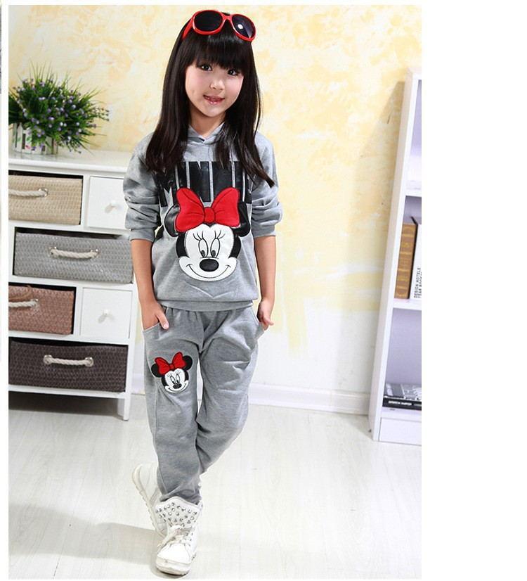 ff2cd72deb1 Bebé niñas conjuntos de ropa de dibujos animados Minnie Mouse 2019 ...
