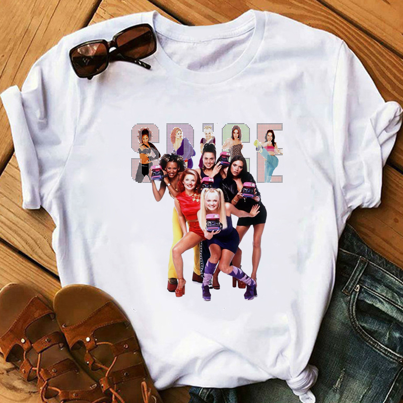 Spice Girls T-Shirt Women Vogue Summer Hipster Cool Fashion Girl's T Shirt Funny Casual Fitness Cute Tops Tees Female Gift