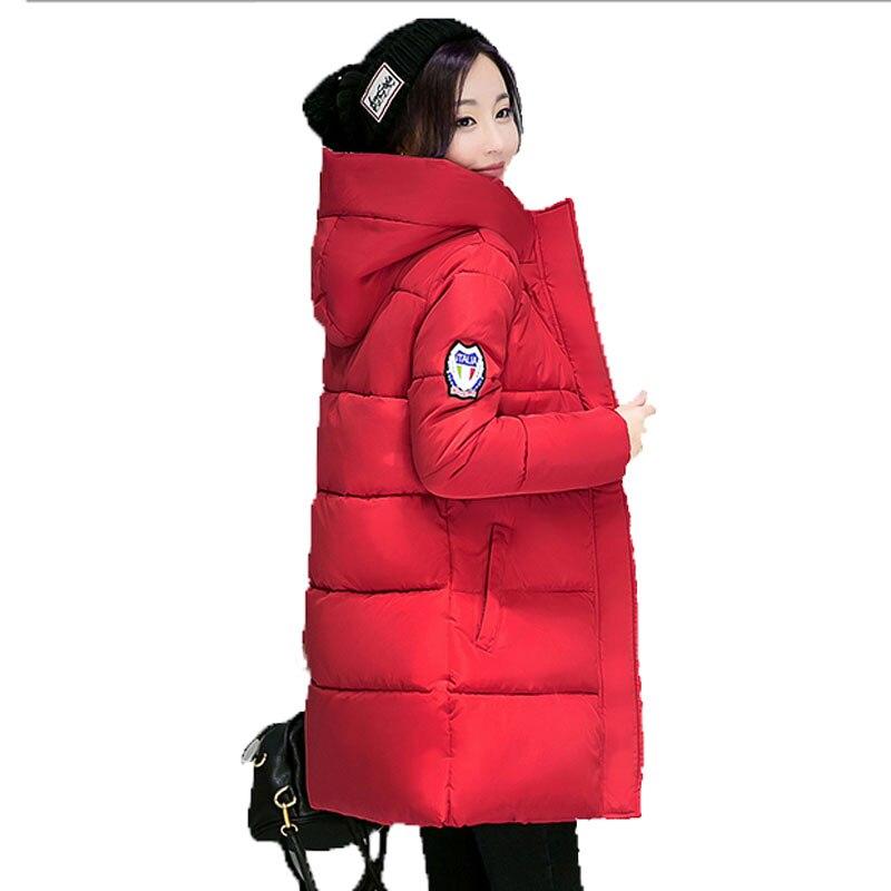 e74ba215f31e9 Amassado Feminino Jaqueta Jaqueta de Inverno das Mulheres Novas Jaquetas Da  Marca Senhoras Casaco Fino Parkas Plus Size Coatscasacos de inverno feminino