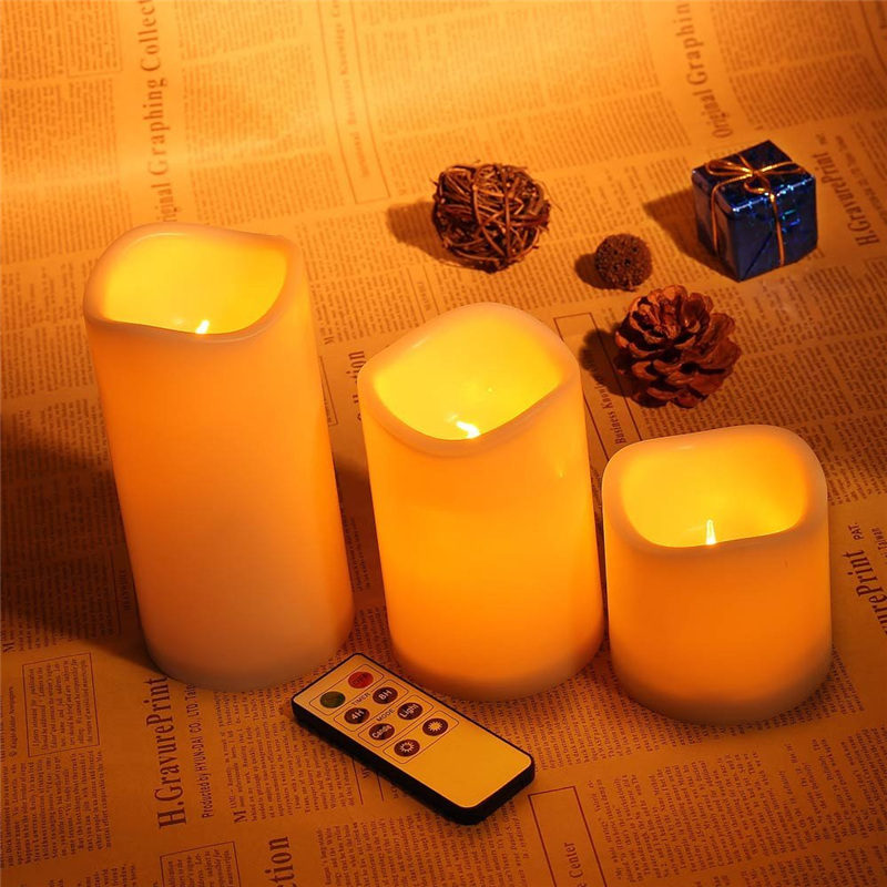 Romantic 3pcs Set Wireless Remote Control Candle Operated