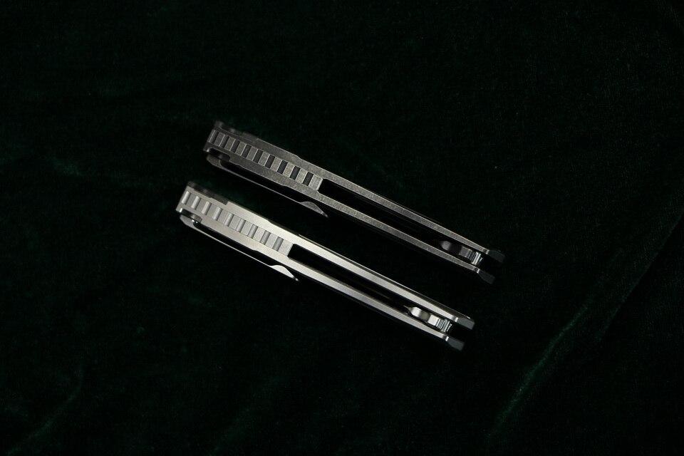 CH CH3519 Flipper folding knife s35vn blade carbon fiber Titanium handle outdoor camping hunting pocket fruit Knives EDC tool (9)