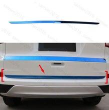 Blue Stripe Tail Rear Door Bottom Tailgate Cover Trim For Honda CRV CR-V 12-2016