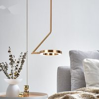 Designer Lamps Modern Luminaria Bar Brass Creative LED Nordic Pendant Lamp Bedroom Bedside Chandelier Lighting Flesh Light
