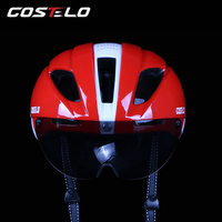2017 Costelo Road MTB Bike Cycle Helmet With Goggle Goggle Helmet Bicycle Helmet Capacete Ciclismo Casco