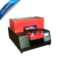 High Quality automatic UV printer for Phone case PVC Acrylic plate Wood Glass Metal A4 Small UV Printer CE