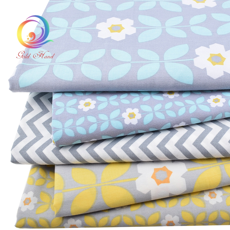 Haisen,5pcs/lot,Twill Cotton Fabric Patchwork Tissue Cloth Fat Quarter Bundle Of Handmade DIY Quilting Sewing Textile Material