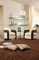 Античная Европейский лаконичный стиль Творческий натуральная кожа стул один гостиная диван стулья бежевый/коричневый доставка к вашему по